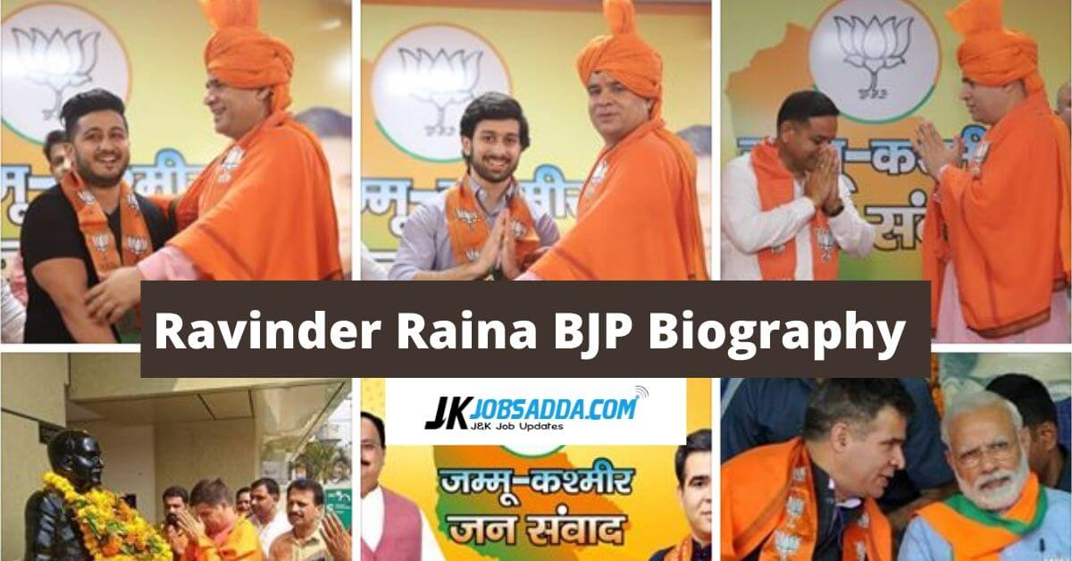 Ravinder Raina BJP Biography Jammu