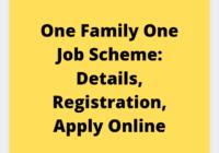 One family one job scheme