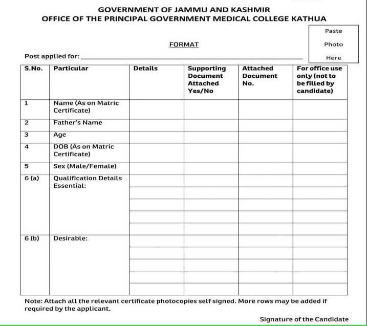 GMC Kathua Recruitment 2020