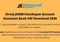 JKSSB Panchayat Account Assistant Book Pdf Download