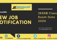 JKSSB Class IV Exam Date