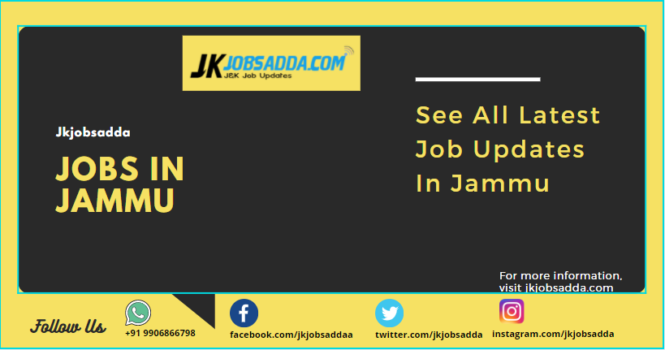 Jobs In Jammu