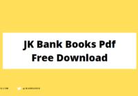 JK Bank Books Pdf Free Download