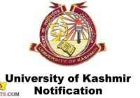 Kashmir University Jobs Recruitment 2020 Engagement of Lecturers.