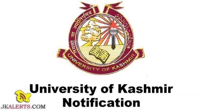 Kashmir University Jobs Recruitment 2020 Engagement of Lecturers.