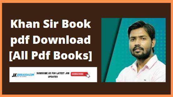 Khan Sir Book pdf Download