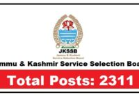 JKSSB Recruitment 2021 For 2311 Posts: Apply Before 12/05/21