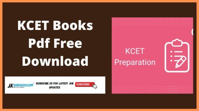 KCET Books Pdf Free Download