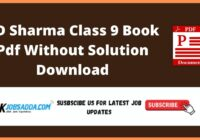 RD Sharma Class 9 Book Pdf Without Solution Download