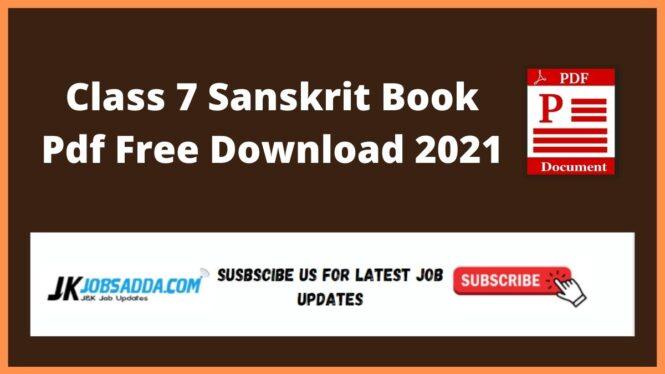 Class 7 Sanskrit Book Pdf Free Download 2021