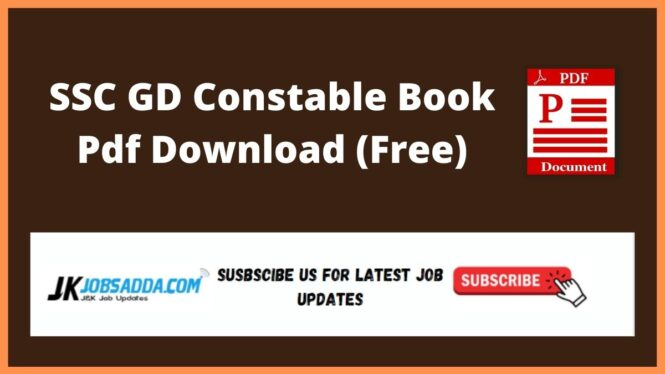 SSC GD Constable Book Pdf Download (Free)