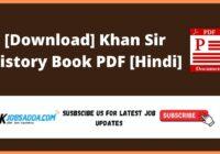 [Download] Khan Sir History Book PDF [Hindi]