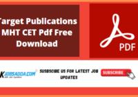 Target Publications MHT CET Pdf Free Download